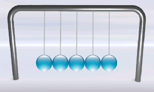 Screenshot di Newtons Cradle