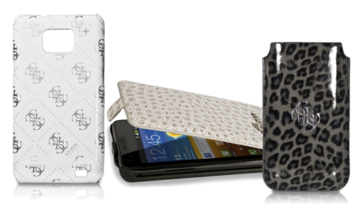 Guess collection accessori firmati per il galaxy s 2 for Accessori firmati