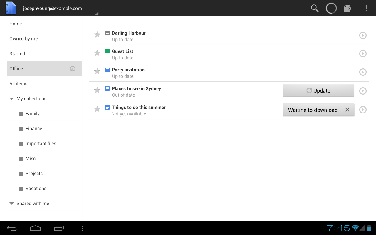 how to turn offline mode on google docs