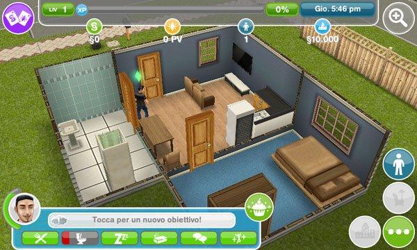 The sims gratis una vita virtuale su android tuttoandroid for Gioco arredare casa virtuale