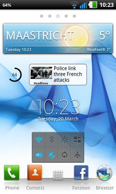 Download launcher del sony xperia s per smartphone con for Widget clima samsung