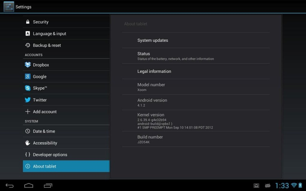 versione android 4.1.2