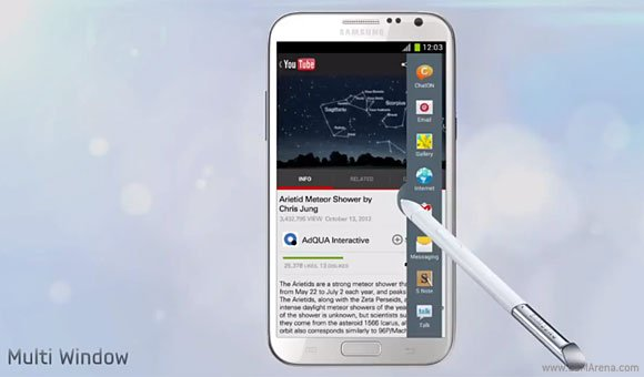 how to add apps to multi window note 2