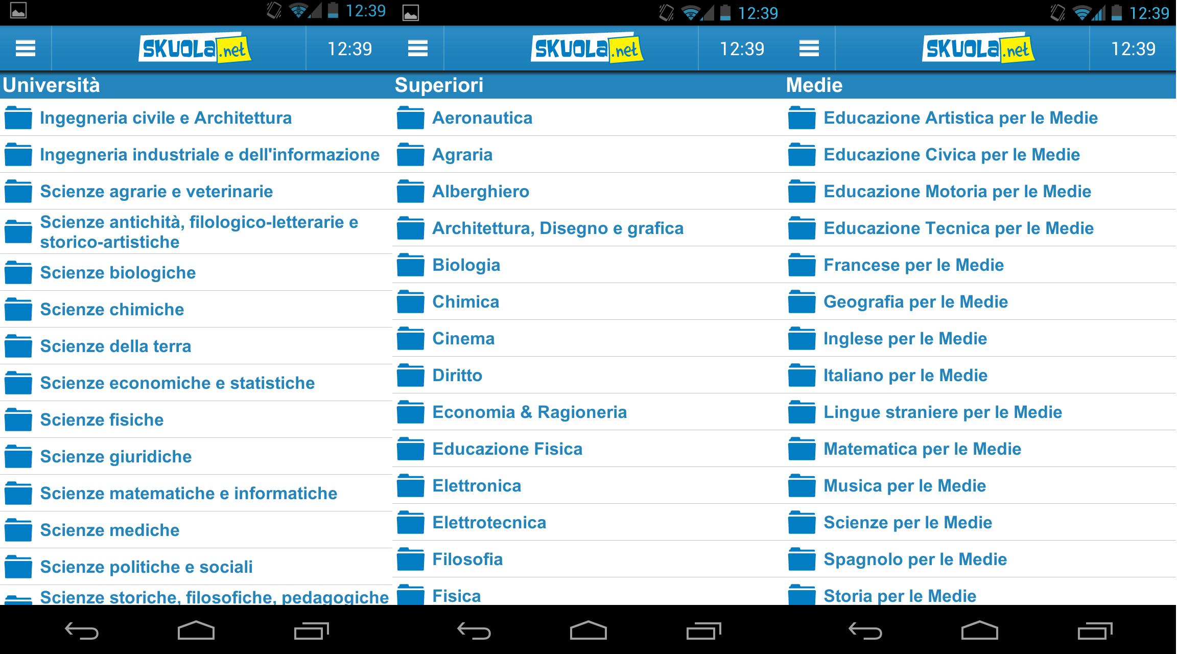 Screenshot categorie
