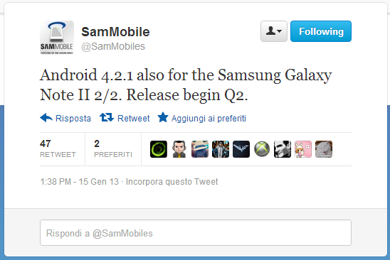 galaxy note 2 android 4.2.1