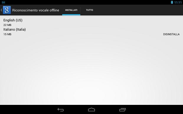 riconoscimento vocale offline android