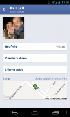 facebook messenger chiamate