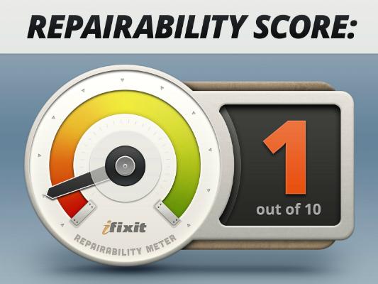 htc one punteggio ifixit