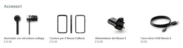 accessori nexus 4
