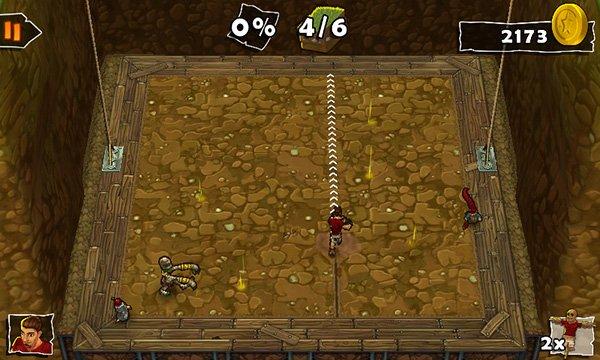 Screen del gioco Dig
