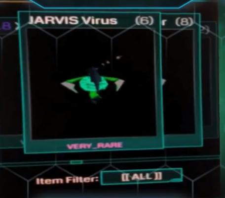jarvis virus inventory item list