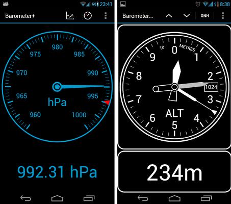 Barometer Altimeter Dashclock Un App Barometro Altimetro