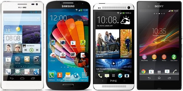 Confronto Display Galaxy S4, HTC One, iPhone 5, Ascend D2, Xperia Z