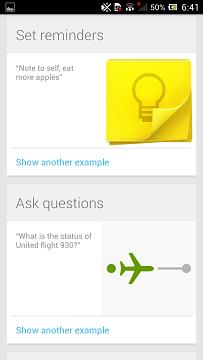 Google Now Azioni Vocali