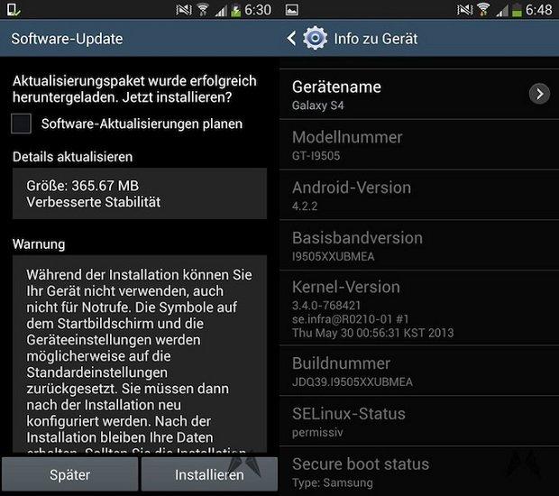 Samsung Galaxy S4 I9505XXUBMEA