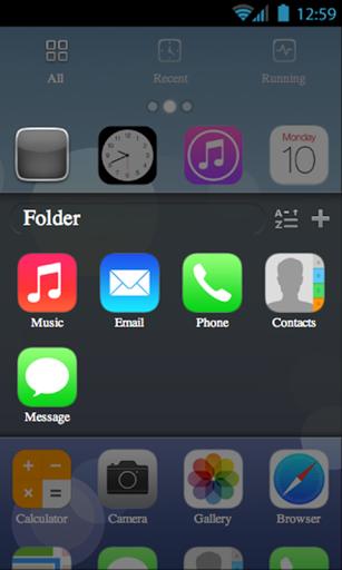 tema iPhone iOS 7 per GO launcher