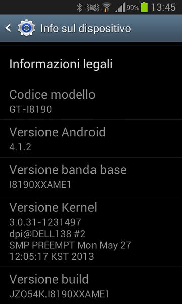 Galaxy S3 Mini I8190XXAME1