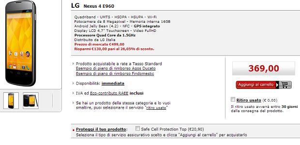 Nexus 4 Offerte