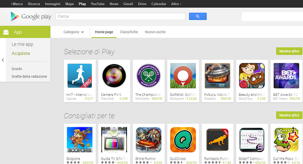 Play Store Web