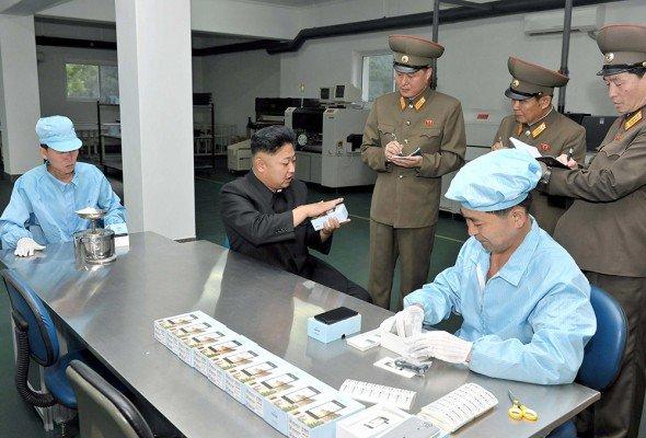 North Korean leader Kim Jong-Un visits the May 11 Factory