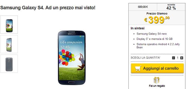 Galaxy S4 Offerta Promozione Prezzo
