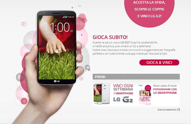 LG G2 Concorso Vinci Gratis