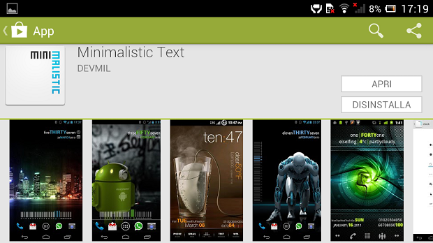 Minimalistic Text Gratis