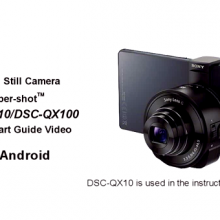 Sony QX10 QX100 Video Guida