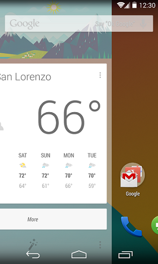 google now launcher android 4.4