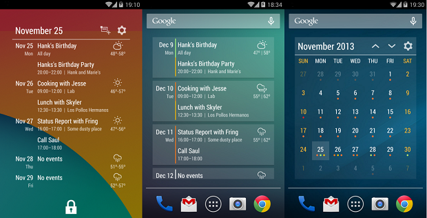 Calendario Android Widget.Event Flow Calendar Widget Calendario Ed Agenda Sempre A