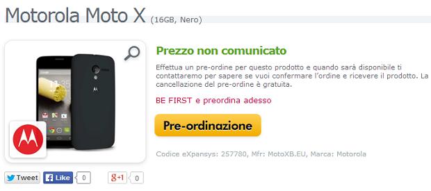 Moto X Italia