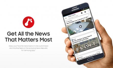 Ceetah Mobile pubblica una versione esclusiva di News Republic per Samsung