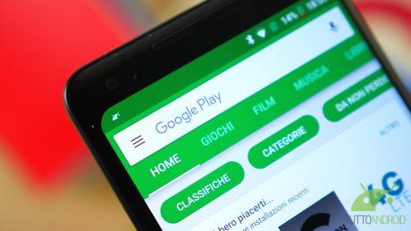 Il Play Store sposta il pulsante per la lista dei desideri e