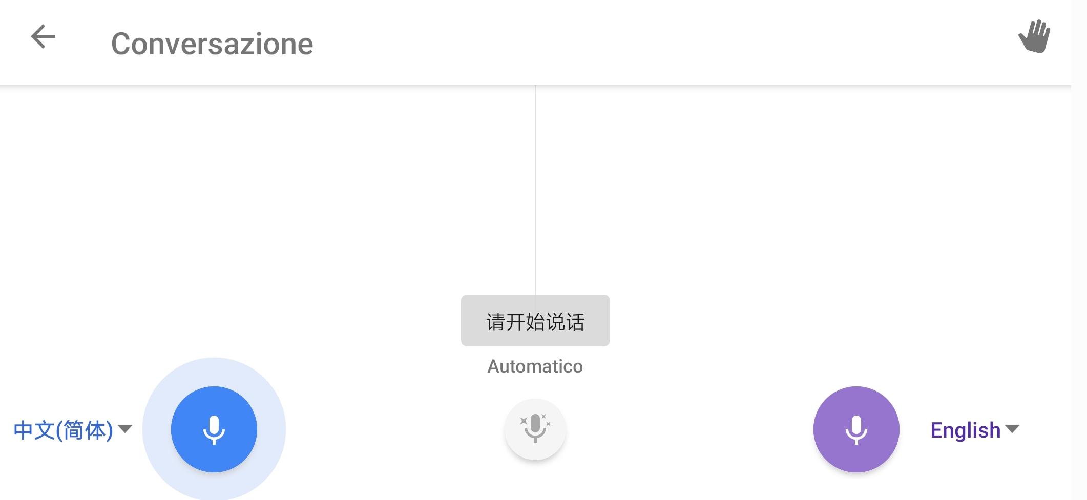 Google Traduttore traduzione simultanea