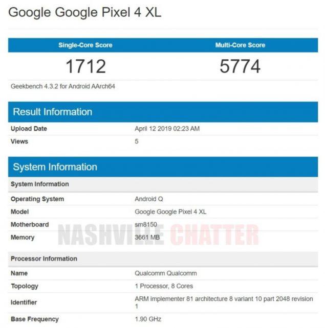 Google-Pixel-4-XL Geekbench
