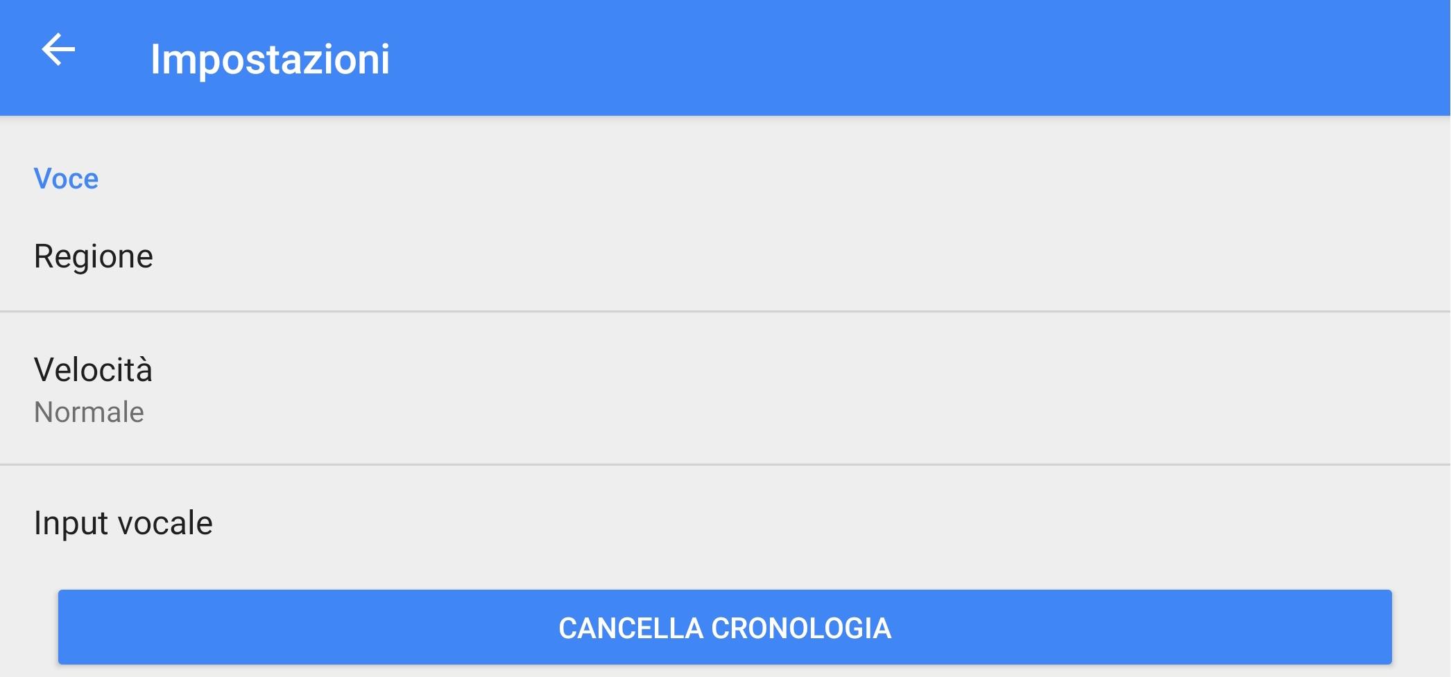Google Traduttore cronologia