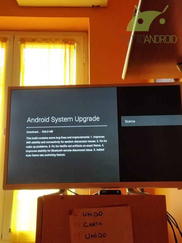 Xiaomi Mi Box S aggiornamento