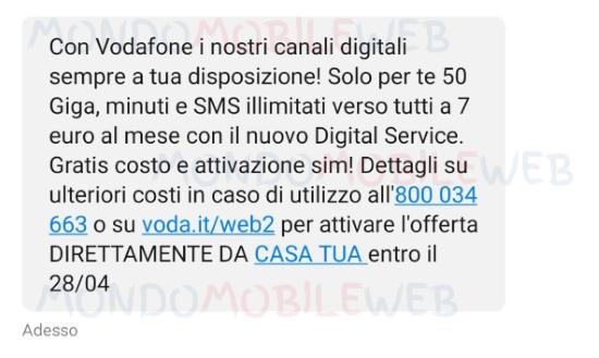 vodafone special 50 digital edition winback