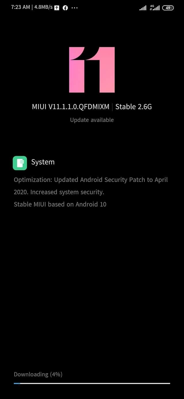 Xiaomi Mi Note 10 update