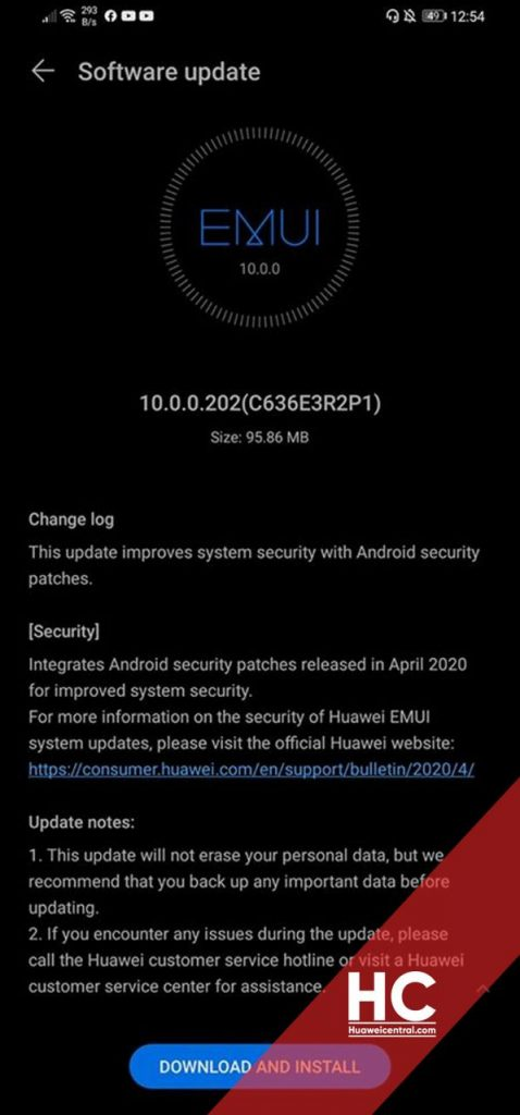 Huawei P30 Lite patch sicurezza aprile