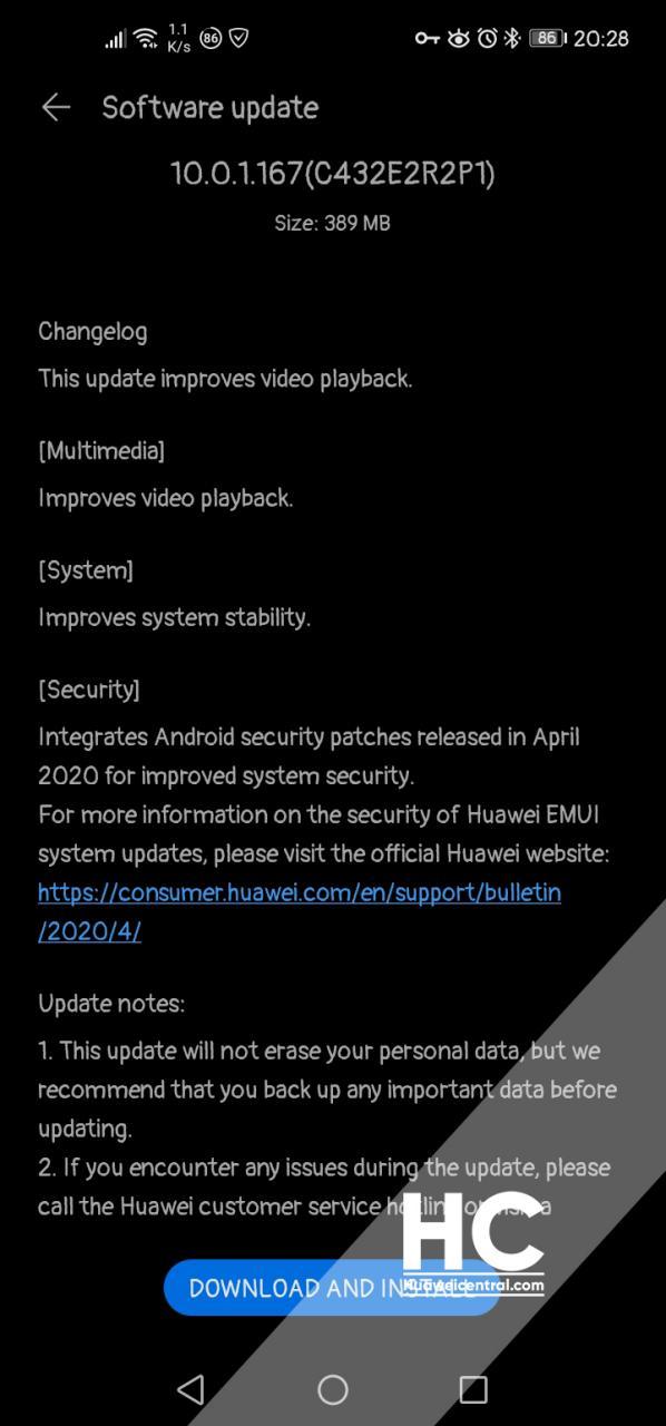 huawei p40 lite aggiornamento
