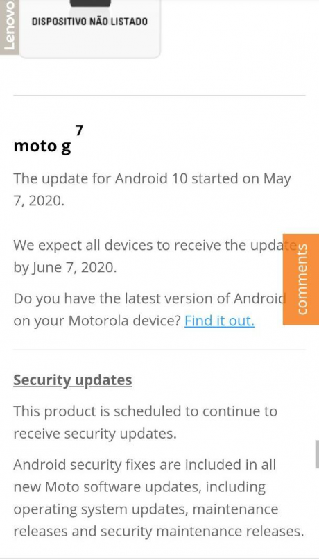 android 10 motorola moto g7
