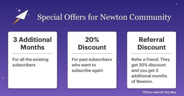 newton mail sviluppo novità