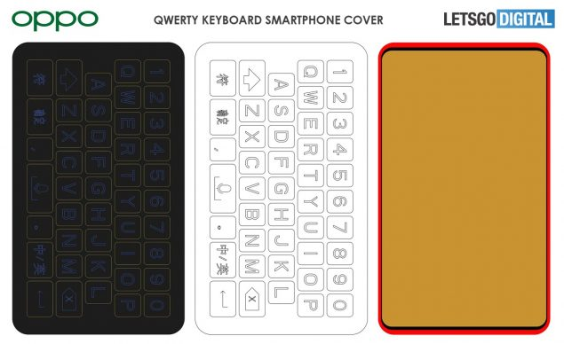 oppo cover smartphone tastiera qwerty brevetto